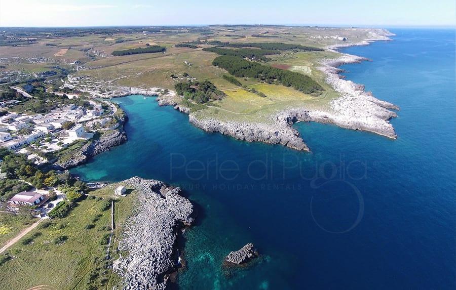 Porto Badisco nella zona di Otranto