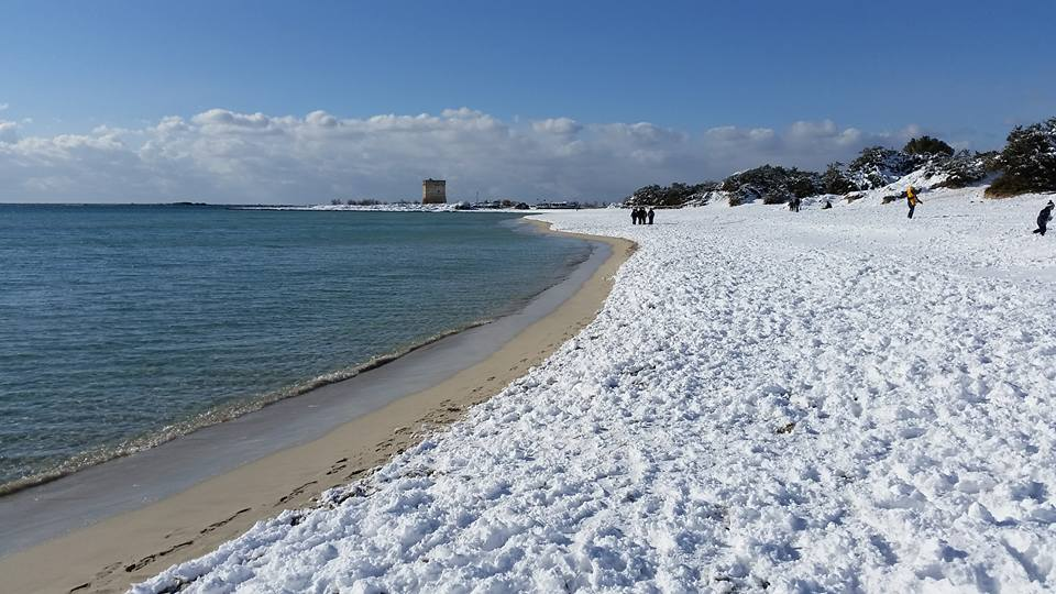 Matrimonio Spiaggia Porto Cesareo : Foto del salento innevato un anno dopo notizie