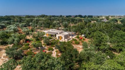 The villa from the drone view