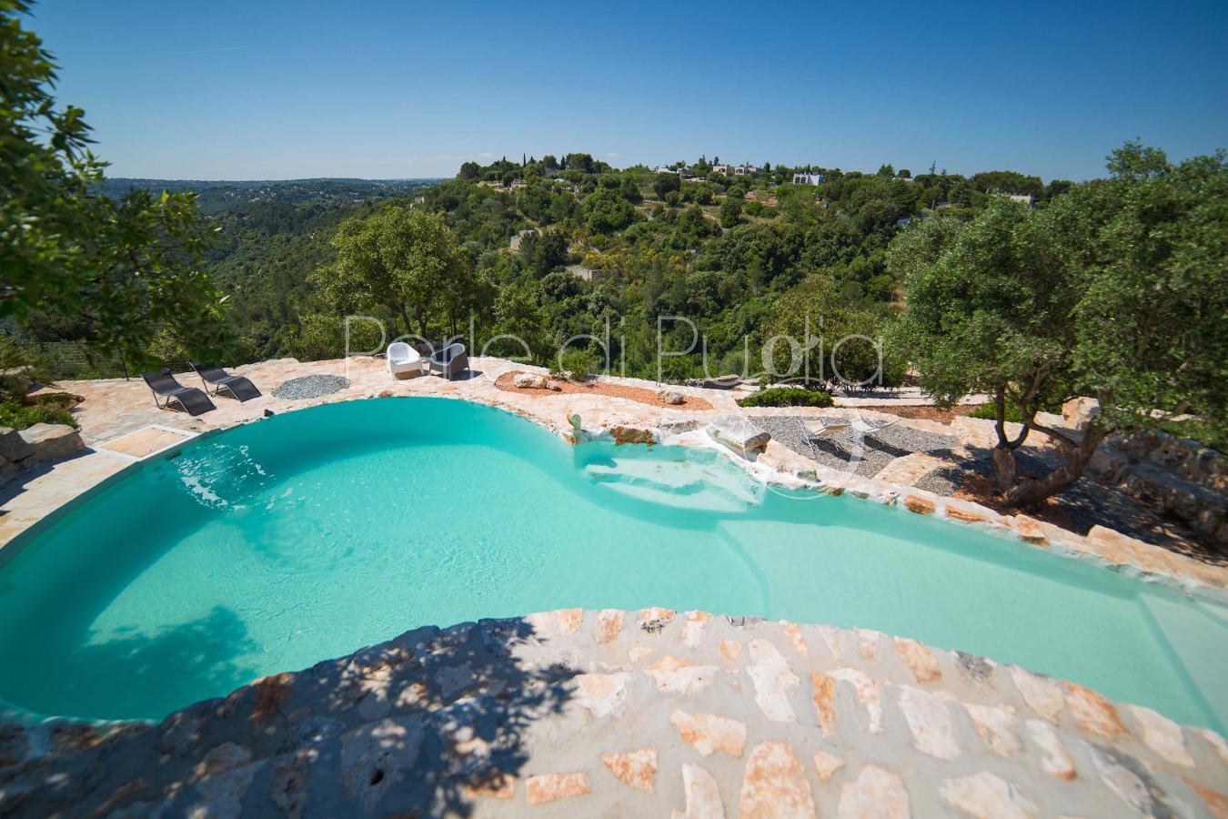 Trulli con piscina e vista panoramica nella selva di - Ville con piscina ...
