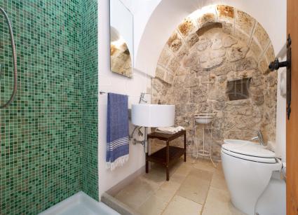 Il bagno doccia della seconda dependance