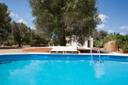 la piscina in giardino