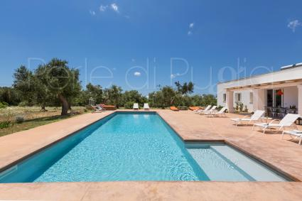 Beautiful villa with salt pool, internet, barbecue, for rent for holidays in Puglia