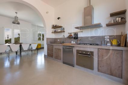 The kitchen of the villa is well-equipped