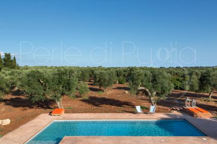 Beautiful views of the exterior, like small postcards, in the holiday villa for rent in Salento