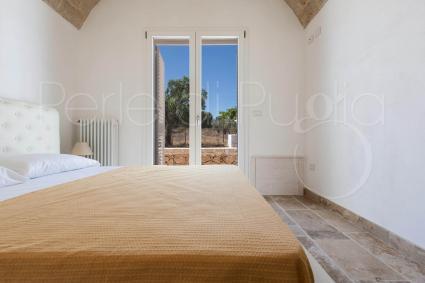 La camera matrimoniale 4 della villa di lusso per vacanze in Puglia