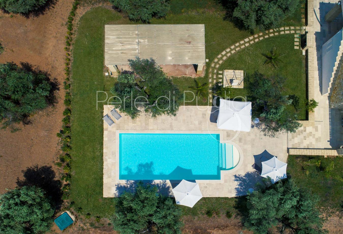 Villa di lusso con piscina e uliveto a pescoluse la serrazza for Piscina di lusso