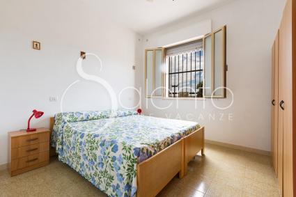 La camera da letto doppia si trasforma in matrimoniale, nella casa vacanze sulla spiaggia di Porto Cesareo