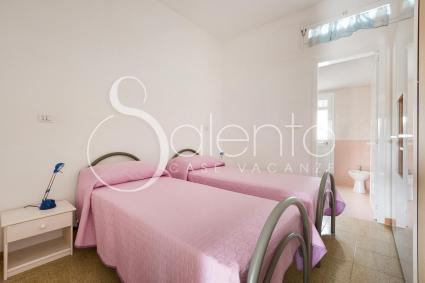 La camera doppia della villetta per vacanze nel Salento