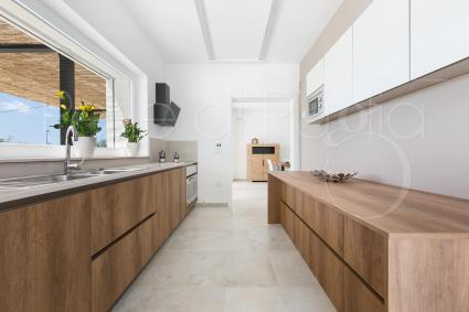 kitchen and wide countertop
