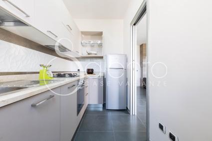 La cucina attrezzata e dotata di tutti i comfort