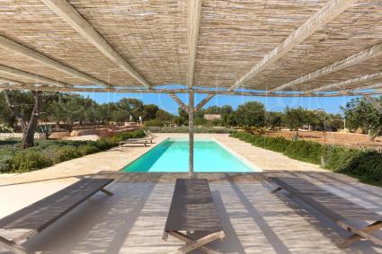 La villa in affitto per vacanza lusso in Puglia, vista drone