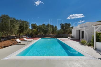La bella piscina accanto alla casa tipica Gaura
