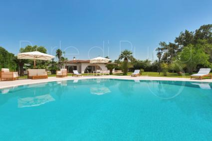 Holiday home for rent with pool and gym in Apulia, near Gallipoli