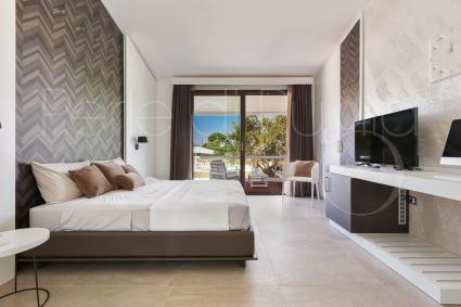 The sleeping area consists of big bedrooms furnished with attention to details