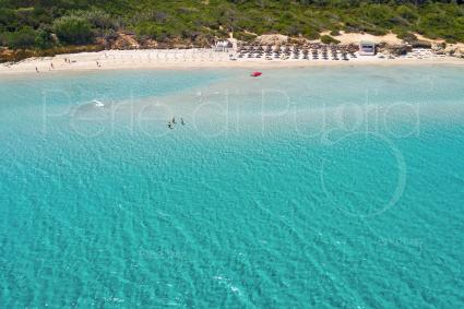 Il mare stupendo dei Laghi Alimini, ripresa vista drone