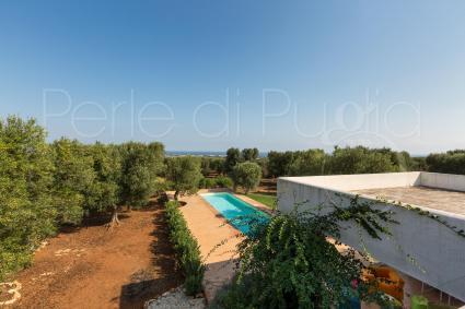Dall`alto di Villa Carlita si gode di bellissima vista mare
