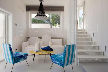 The modern villa with contemporary design is the result of a recent renovation