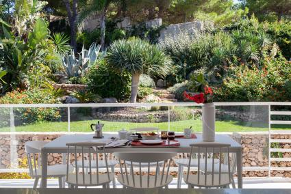 From the living room, dining room, kitchen there is direct access to the beautiful terrace with a view