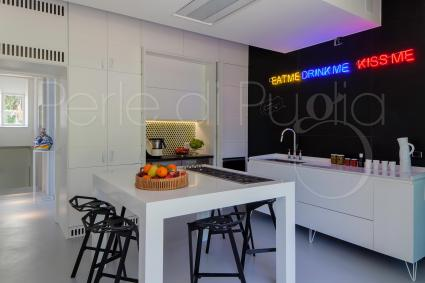 The kitchen as well has a beautiful, modern and original design