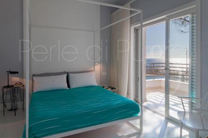 Le camere da letto della villa sono la quintessenza del relax in vacanza sul mare