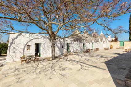 Each trullo has a small outdoor area of exclusive use