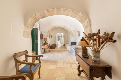 The authentic charm of the trulli is well balanced with the design furniture