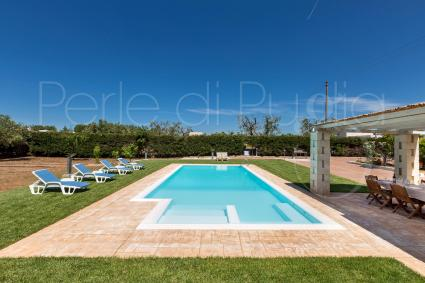 Beautiful pool with view on the olive trees
