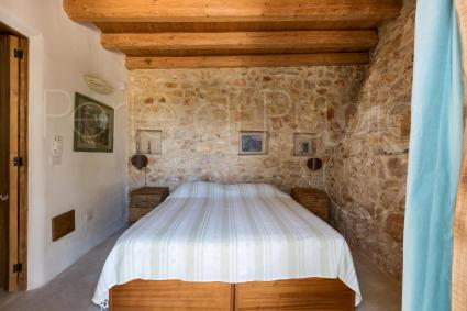 Wooden beams and stone walls