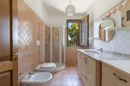 The ensuite bathroom with shower