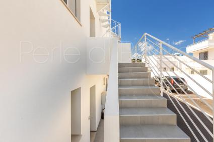 The outdoor staircase