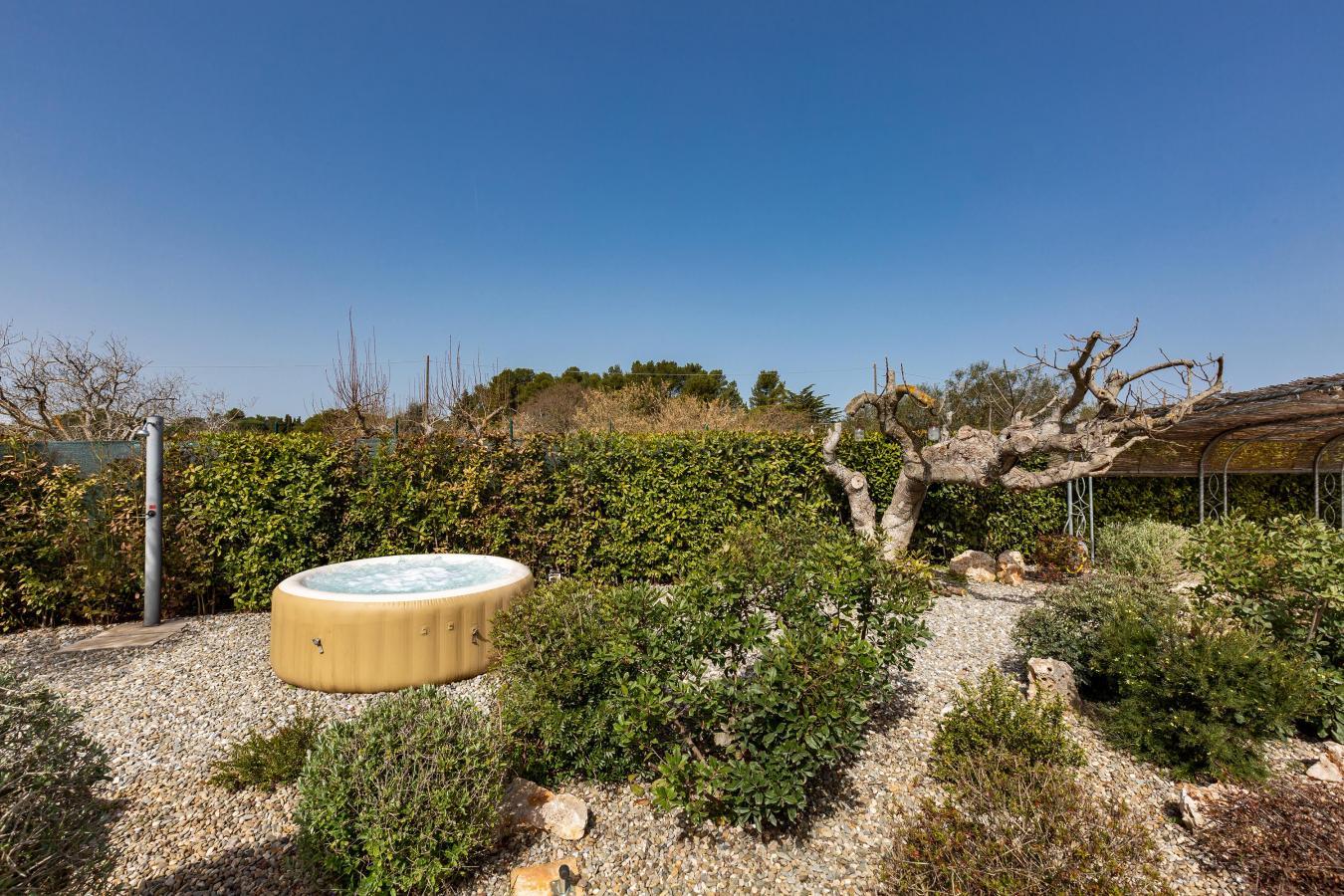 Jacuzzi and solarium in the garden