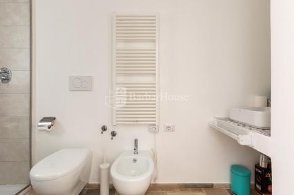 Bagno doccia en suite alla Camera 1