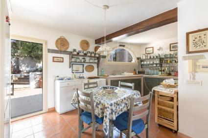 La cucina abitabile è superaccessoriata