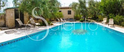 La bella piscina è a disposizione degli ospiti