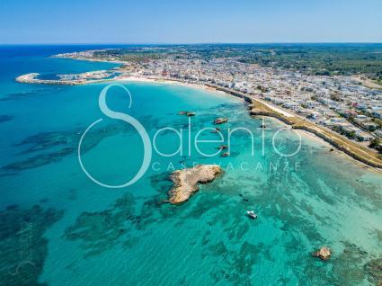 Il litorale di San Foca, vista drone